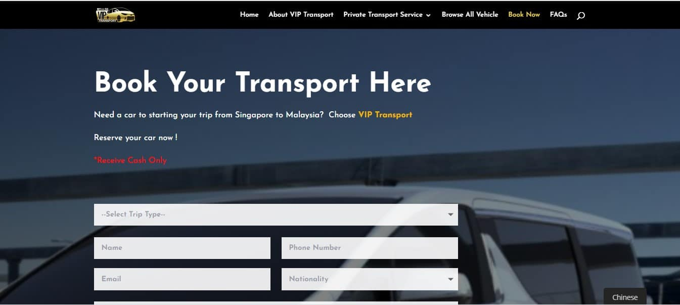 book your vip transport service here